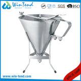 Edelstahl-Küche-Schmierölfilter-Trichter mit Griff und Standplatz