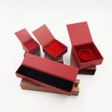 Коробка красного подарка бумаги ящика бархата упаковывая (J56-E)