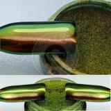 Poudre de vernis à ongles de chrome de miroir de l'aurore de changement de vitesse de couleur de caméléon