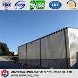 Halber geöffneter einfacher Stahlkonstruktion-Speicher