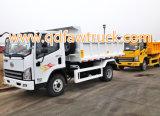 Tombereau de tonne du camion à benne basculante FAW 3-5, mini dumper, camion de dumper