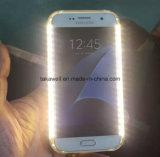 L'alimentation par batterie en gros annexe Selfie de téléphone mobile allument la caisse vers le haut de clignotement de téléphone de DEL pour le cas de Samsung S5/S6/S7