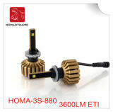 Farol 3600lm do diodo emissor de luz do tamanho 880 da instalação fácil mini