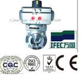 스테인리스 압축 공기를 넣은 나비 벨브 (IFEC-BV100001)