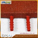 Azulejos de goma del agujero de alfiler, azulejo de goma al aire libre, pavimentadora de goma colorida