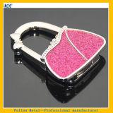 Rosafarbene Farben-Handtaschen-Form-bewegliche Falz-Funkeln-Puder-Handtaschen-Tisch-Aufhängung