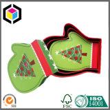 Bunter Handschuh-Form-Pappweihnachtspapier-Geschenk-Kasten