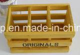 Rectángulo grande de moda de madera natural de madera del almacenaje de la talla