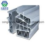 Perfis claros de alumínio do trilho