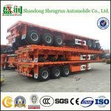 China Tri-Welle 20FT 40FT Behälter-Transport-Flachbett-halb Schlussteil
