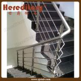 Изогнутый Railing нержавеющей стали балюстрады провода кабеля балкона (SJ-X1003)