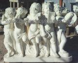 Statua di scultura di marmo di pietra di angelo della scultura del Cherub (SY-X0156)