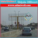 Double Side extérieure Colonne galvanisé Structure en acier panneaux publicitaires (W12 XH 4)
