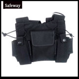 Bolso ajustable del harness del pecho del Walkietalkie de radio de dos vías