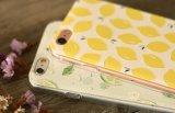 Tampa fina da caixa do silicone macio da forma da morango do limão da cereja da fruta para o iPhone de Apple