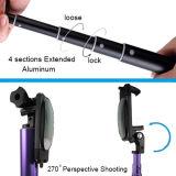 新しいFoldable可聴周波ケーブルSmartphoneが付いているクリップによってSelfieのワイヤーで縛られるアルミニウム棒