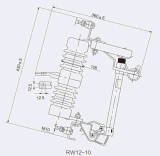 Guoen lâchent le commutateur RW12-15-100A extérieur de découpage de fusible/de tige/interruption de fusible