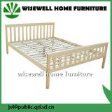 Weißes Farben-Kiefer-doppeltes Bett-hölzernes volles Bett (W-B-4030)