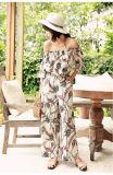 Form-Blumen-Druck-Frauen-Kleid-reizvolle Dame Minikleid für Frauen-Backless Kleider