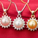 Collana Pendant Sun-A forma di della perla naturale delle donne con la catena