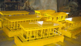 Machine de fabrication de brique creuse concrète hydraulique mobile de machine de la brique Qmy6-25