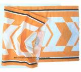 I prodotti dell'OEM hanno personalizzato il Bandana giallo cuoio tubolare elastico Headwear del poliestere promozionale stampato marchio