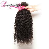 Weave Kinky волос Afro Remy девственницы верхнего качества индийский