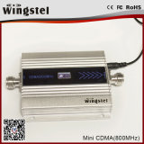 mini CDMA 850MHz repetidor de la señal del teléfono celular de 100m2 13dBm con el LCD