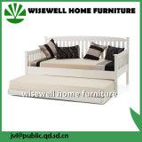 Daybed solido di legno di pino con il Trundle per il salone (WJZ-B81)