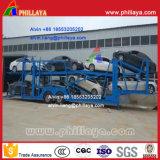 센터 차축 유형 반 수출용 자동차 운반선 트레일러 (8대의 차를 위해 12m 오래)