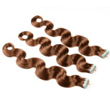 24inches Tape dans Remy Hair Straight brésilien Skin Weft Hair 20 Pieces Beauty Hair Extensions sur bande 9 Colors Best Selling