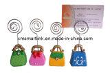 Portatarjetas conocido de Handbag Shape de señora, clip de la tarjeta de visita