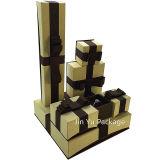 Rectángulo de joyería de papel del regalo para el pendiente, anillo, pulsera, colgante, collar