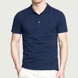 La alta calidad elige la camisa de polo de encargo del algodón del espacio en blanco de la insignia del color
