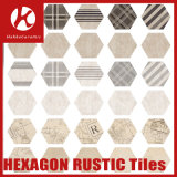 Carrelages Art Deco Matt Surface Rustique Hexagon Brick Look Floor Tiles