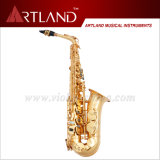 Eb Key Golden Lacquer Finish Saxophone Alto Professionnel (AAS5506G)