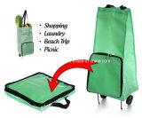 Saco de Tote Foldable do rolamento do trole da compra