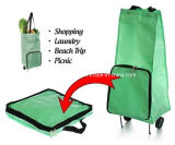 Foldableショッピングトロリー圧延のトートバック