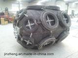 La defensa de goma moldeada de la nave se hace en China