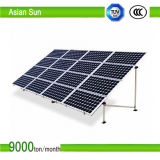 La consola de montaje de tierra para sujeta el panel solar