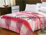 Cobertor coral impresso Sr-B170213-18 impresso macio super do velo do cobertor da flanela
