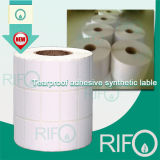 Película sintética Printable tradicional da camada BOPP do revestimento com tratamento de superfície