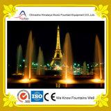 Fontaine au sol de musique de caractéristique de l'eau de fontaine de matrice carrée de ville