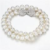 Snh 925silver 18 pulgadas al por mayor de agua dulce collar de perlas