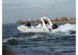 Barco inflable rígido del barco de pesca de Aqualand 19feet los 5.8m/de motor de la costilla (RIB580S)