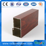 Profil en aluminium d'impression en bois des graines pour le guichet de glissement