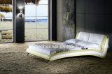 베스트셀러 현대 침실 홈 가구 유럽식 현대 가죽 침대 (HCB002)