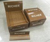 Papel de balanceo de encargo del cigarrillo del cáñamo de la marca de fábrica 14GSM Brown (escoger, 1.25, la talla del kingslim)