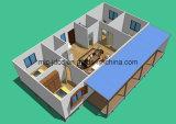 Casa pré-fabricada modular de aço de Strucutre de 3 quartos
