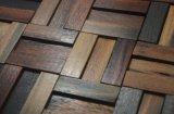 Mosaico di legno della decorazione della barra di caffè vecchio